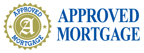 Approved Mortgage logo in blue